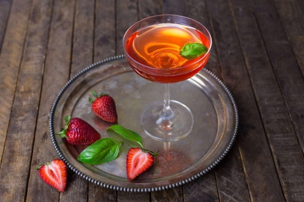Strawberry-Basil Martini