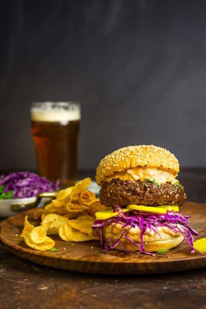 Bulgogi Burgers with Kimchi Mayo