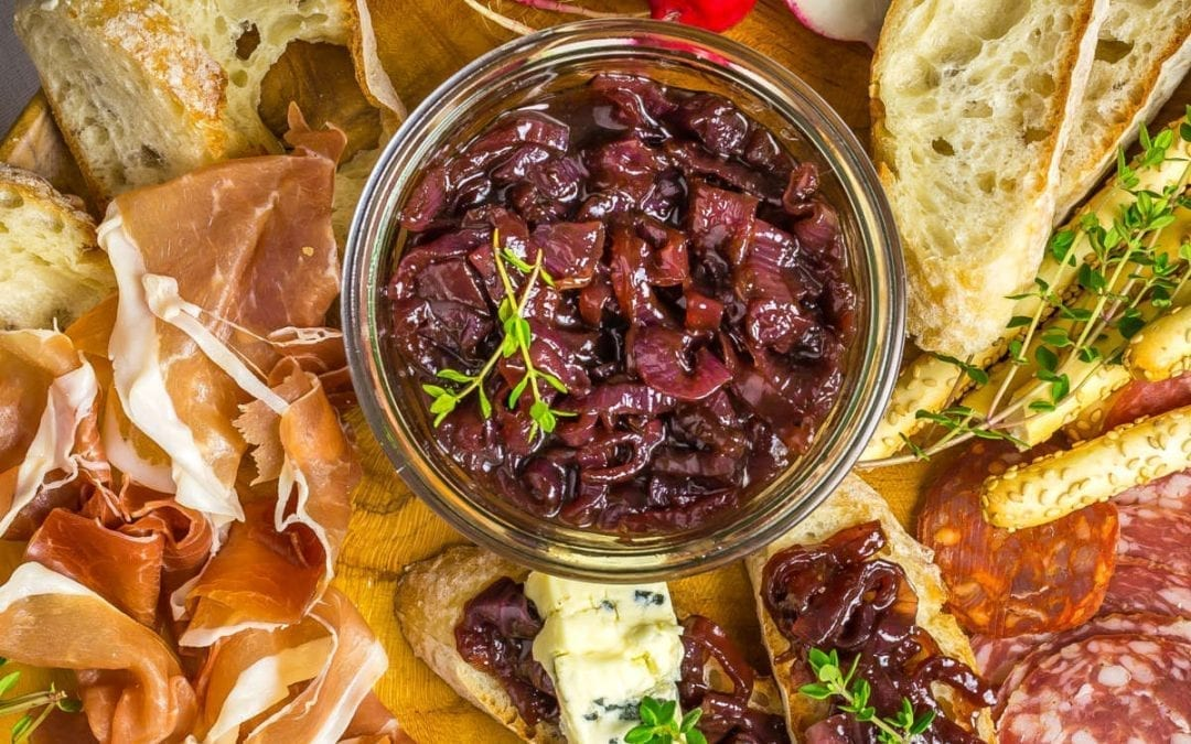 Red Onion Jam with Wine, Honey and Thyme