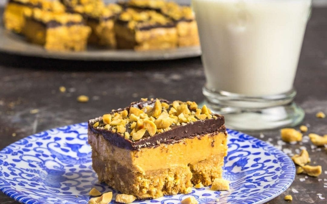 Three-Layer Whipped Peanut Butter Bars