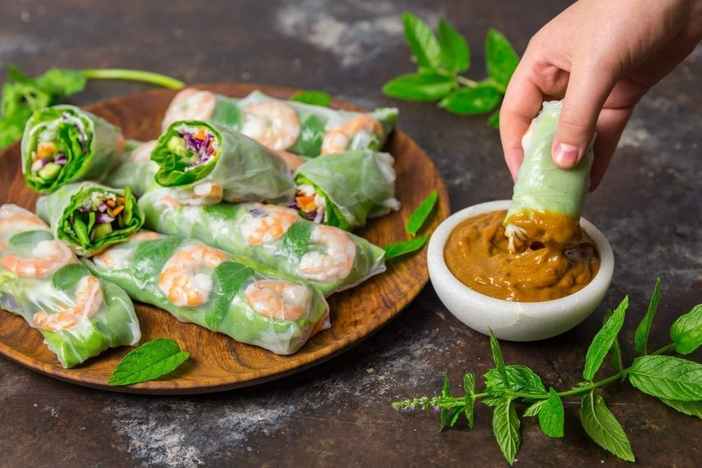 Vietnamese Summer Rolls With Peanut Dipping Sauce Nerds With Knives