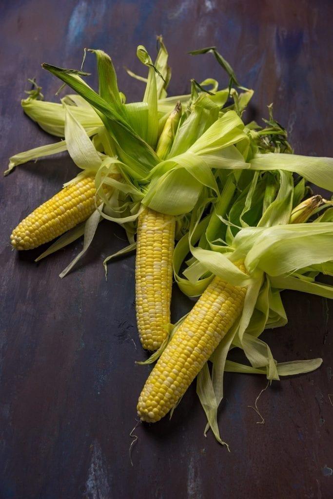 Shrimp and corn chowder - Corn cobs