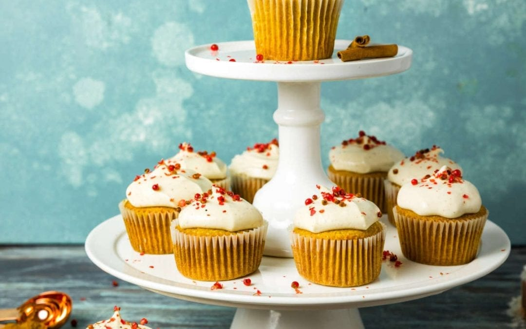 Spiced Chai Cupcakes With Brown Butter Frosting and Pink Peppercorn Sprinkles