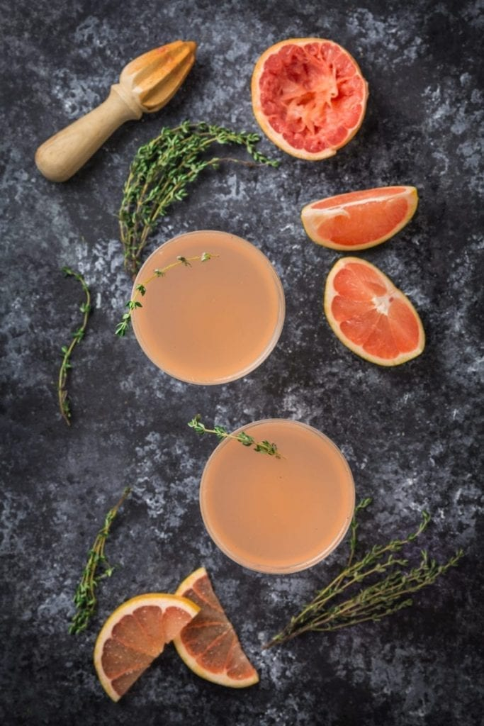 Grapefruit and Thyme Cocktail