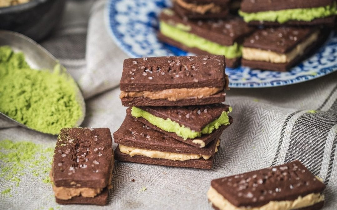 British Bourbon Chocolate Biscuits with Three Buttercream Fillings