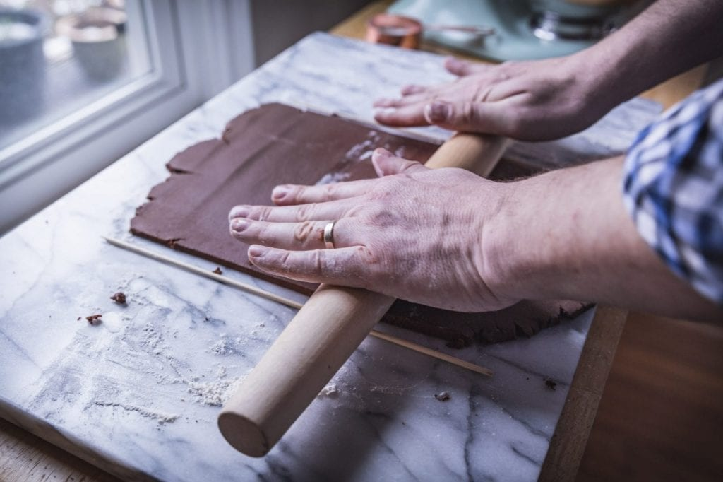 Roll the dough as consistently flat as you can