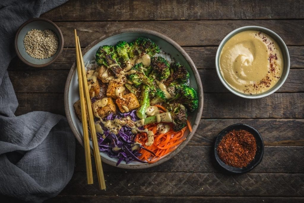Charred Broccoli and Tofu Bowl