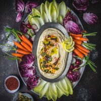 Ultra-Smooth Hummus with Miso and Charred Scallions