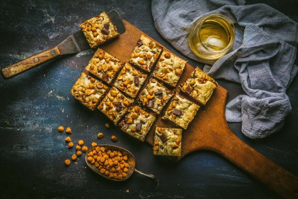Brown Butter Bourbon Blondies