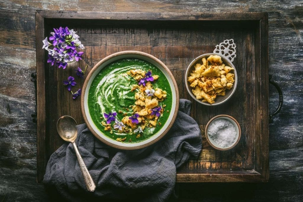 Nettle, Leek and Potato Soup