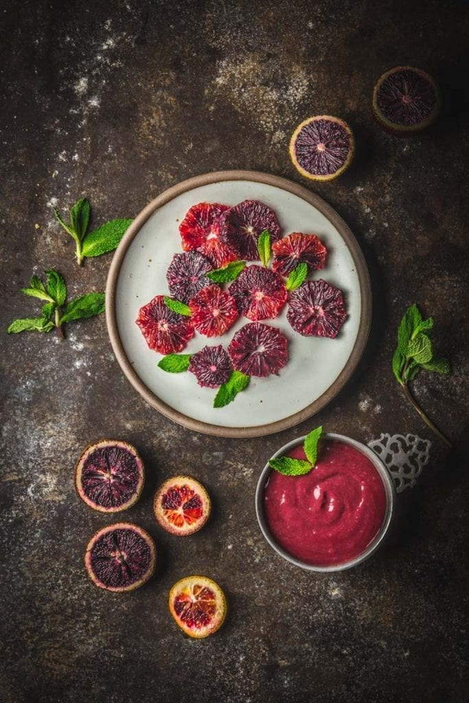 Blood Orange-Hibiscus Curd Tart