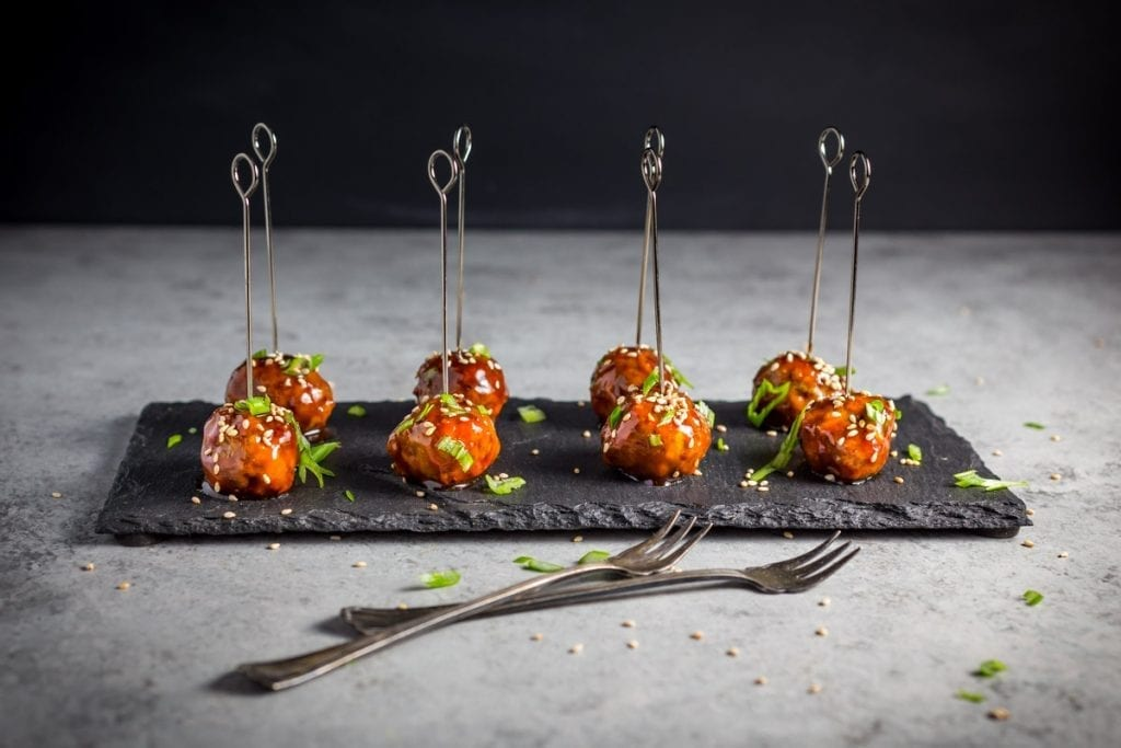 Cocktail Meatballs - Hoisin Glazed