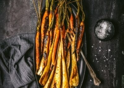 Bourbon-Glazed Carrots and Parsnips