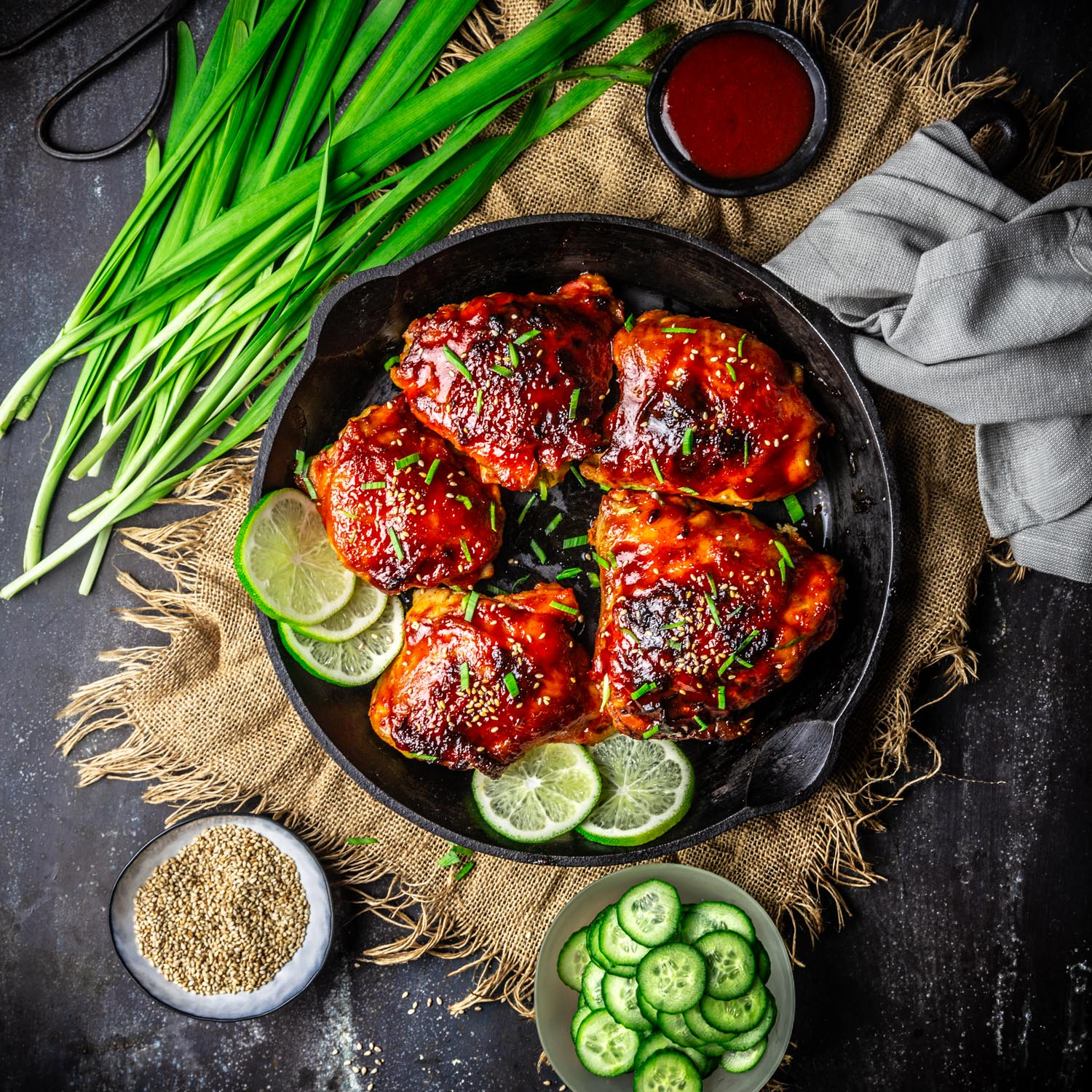 Sticky Gochujang Honey Chicken
