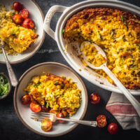 Spicy Cheddar Cornbread Pudding